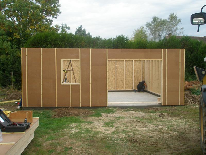 garage atelier ossature bois. Black Bedroom Furniture Sets. Home Design Ideas